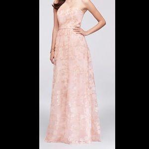Oleg Cassini Embroidered Bridesmaid Dress